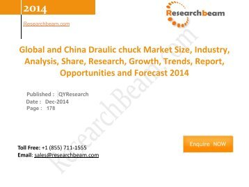 Global and China Draulic chuck Market Size, Industry, Analysis, Share, Growth, Trends, Forecast 2014