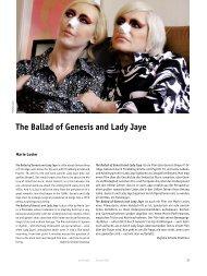 The Ballad of Genesis and Lady Jaye - Arsenal