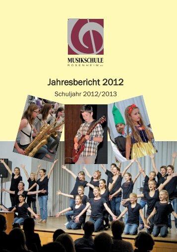 Jahresbericht 2013 - Musikschule.Rosenheim
