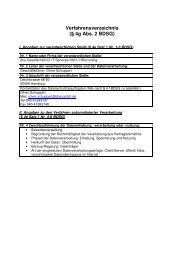 Verfahrensverzeichnis (§ 4g Abs. 2 BDSG) - HRecruiting.de