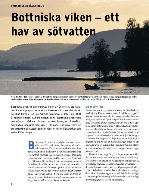 Bottniska viken – ett hav av sötvatten - Havet.nu