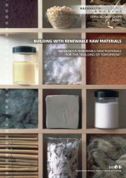 BUILDING WITH RENEWABLE RAW MATERIALS - Haus der Zukunft