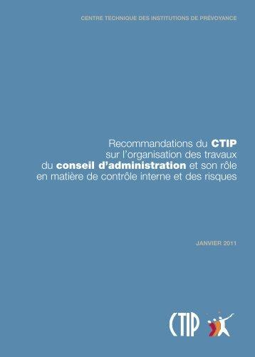 conseil d'administration - CTIP