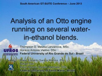 Analysis of an Otto Engine Running on Several Water-in-Ethanol ...