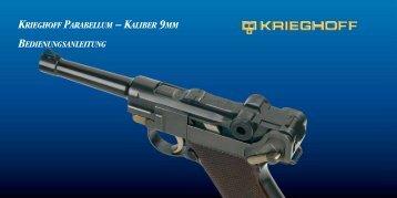 Krieghoff Parabellum – Kaliber 9mm bedienungsanleitung