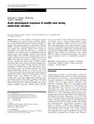 Acute physiological responses in healthy men during ... - Tecnosport