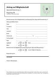 Antrag auf Mitgliedschaft - Braunschweiger Jägerschaft e.V.