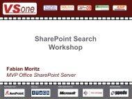 SharePoint Konferenz 2009 - Enterprise Search ... - ITaCS Blogs