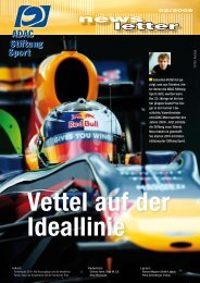 Newsletter 02/2009 - ADAC Stiftung Sport