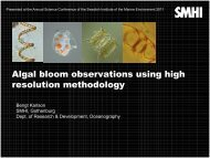 Algal bloom observations using high resolution methodology