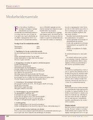 Medarbeidersamtale - Den norske tannlegeforenings Tidende
