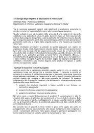 Tecnologia degli impianti di aspirazione e ventilazione di ... - ASL AL