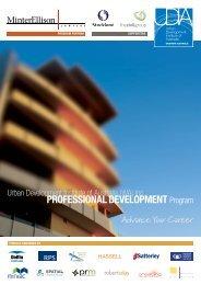 PROfESSiONAL DEvELOPMENT Program - Urban Development ...