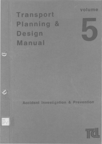 TRANSPORT PLANNING & DESIGN MANUAL Volume 5 Chapter 1