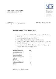 Delårsrapport for 1. halvår 2013 - NTR Holding