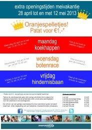 Programma meivakantie 2013.pdf - Sportfondsen