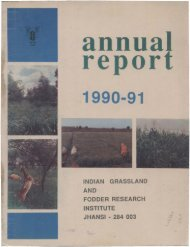IGFRI Annual Report 1990-1991 - Indian Grassland and Fodder ...