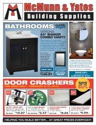 DOOR CRASHERS SAVE - McMunn and Yates Do-It Center