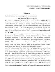 ALLA PROCURA DELLA REPUBBLICA PRESSO IL TRIBUNALE DI ...
