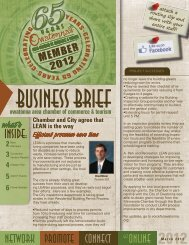 March 2012 Business Brief - Owatonna Chamber of Commerce and ...
