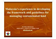 Malaysia's experience in developing the framework and ... - AECEN