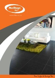 Heritage Tiles Design Brochure - Eboss