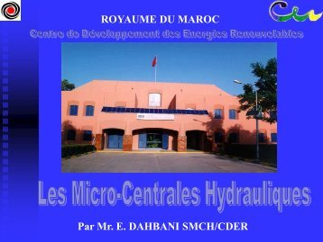 Les micro-centrales hydrauliques - RIAED