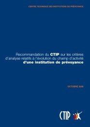 Recommandation du CTIP sur les critères d'analyse relatifs à l ...