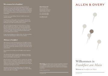 Frankfurt am Main - AllenOvery Event