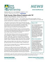 Polk County Cities Show Problems with TIF - Iowa Fiscal Partnership