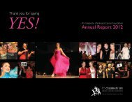 Annual Report 2012 - To Celebrate Life