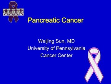 Pancreatic Cancer - Abramson Cancer Center