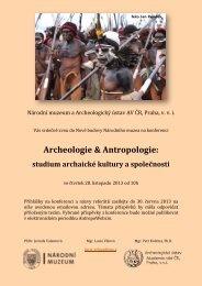 Archeologie & Antropologie: - Archeologický ústav AV ČR