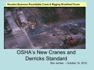 OSHA's New Cranes and Derricks Standard