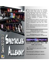 Programme Saison 5 - Allemont