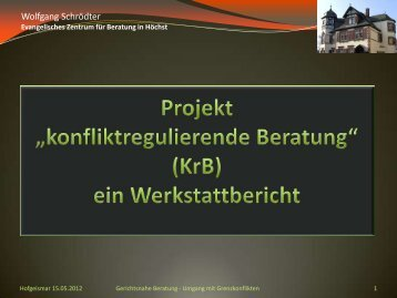 Beratung - Wolfgang Schrödter