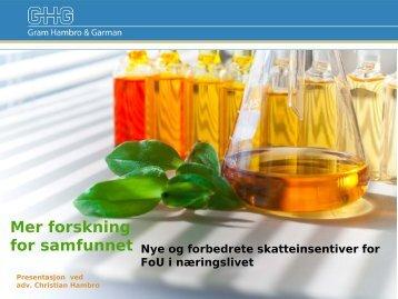 Mer FoU for samfunnet - Biotekforum