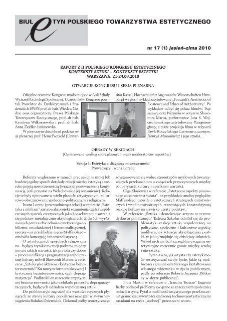 Nr 17 1 Zima 2010 Instytut Filozofii Uj W Krakowie