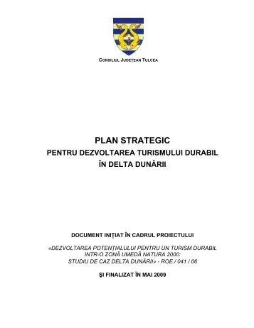 Plan strategic pentru dezvoltarea turismului durabil în Delta Dunării