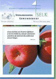 Gemeindebrief für Oktober und November 2012