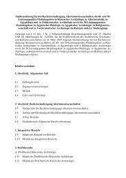 Altertumswissenschaften BA StO - Fachbereich Geschichts