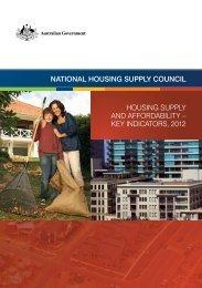 Housing Supply and Affordability – Key Indicators, 2012[PDF ...