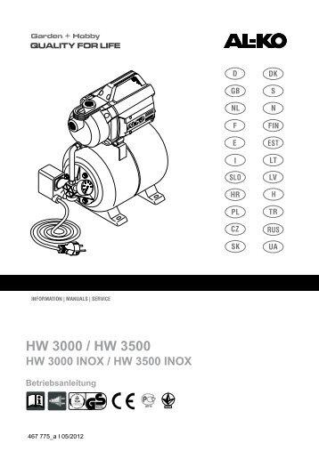 HW 3000 INOX / HW 3500 INOX - AL-KO Garten + Hobby