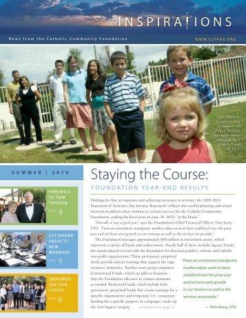 Summer 2010 - Catholic Community Foundation