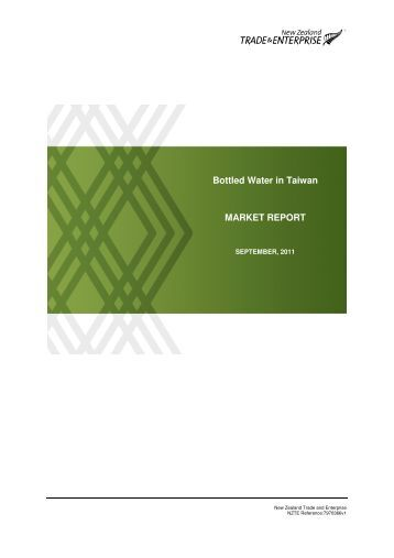 Bottled Water in Taiwan MARKET REPORT - PrcLive