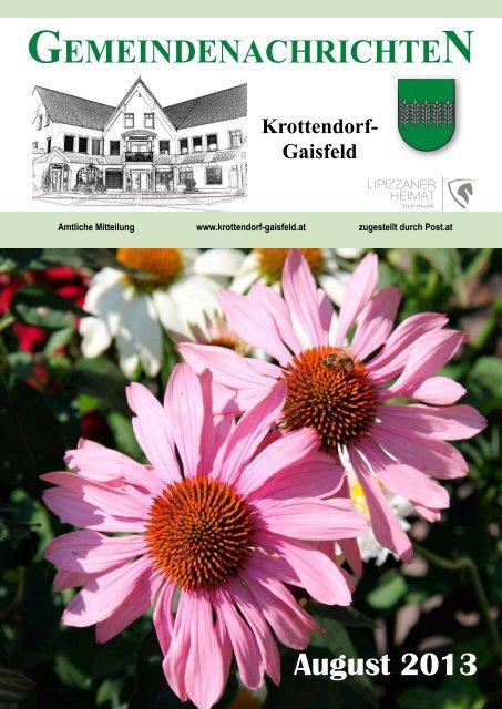 Gemeindezeitung August 2013 - Gemeinde Krottendorf-Gaisfeld