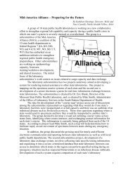 Mid-America Alliance - the Nebraska Public Health Laboratory