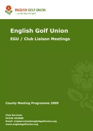 English Golf Union - England Golf