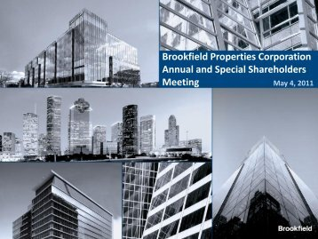 Brookfield Properties Corporation Annual and Special Shareholders ...