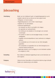 Jobcoaching - Heliomare